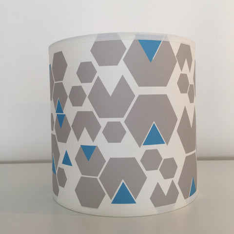 Small Blue Hex Lampshade