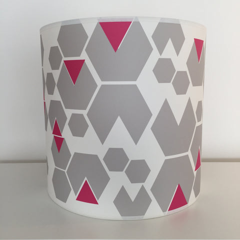 Large Pink Hex Lampshade