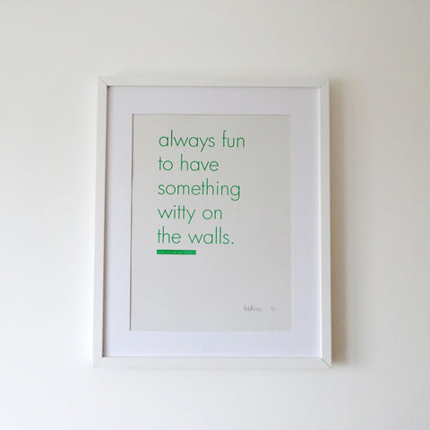 Witty walls print