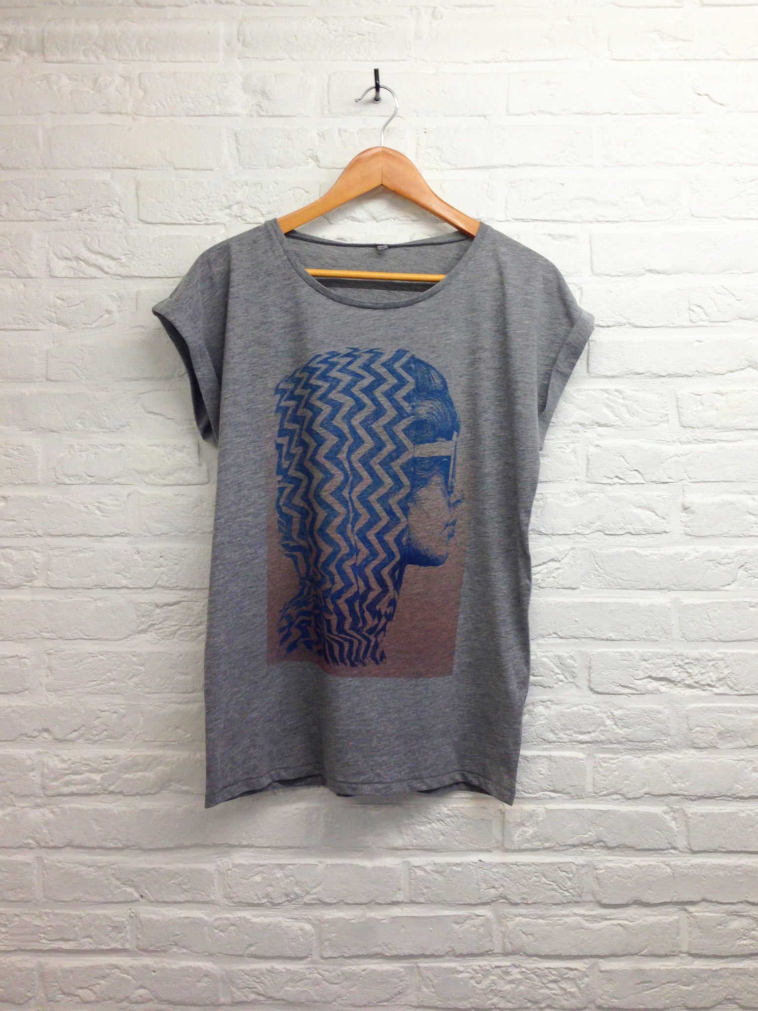 TH Gallery - California Girl - Gris - Femme-T shirt-Atelier Amelot