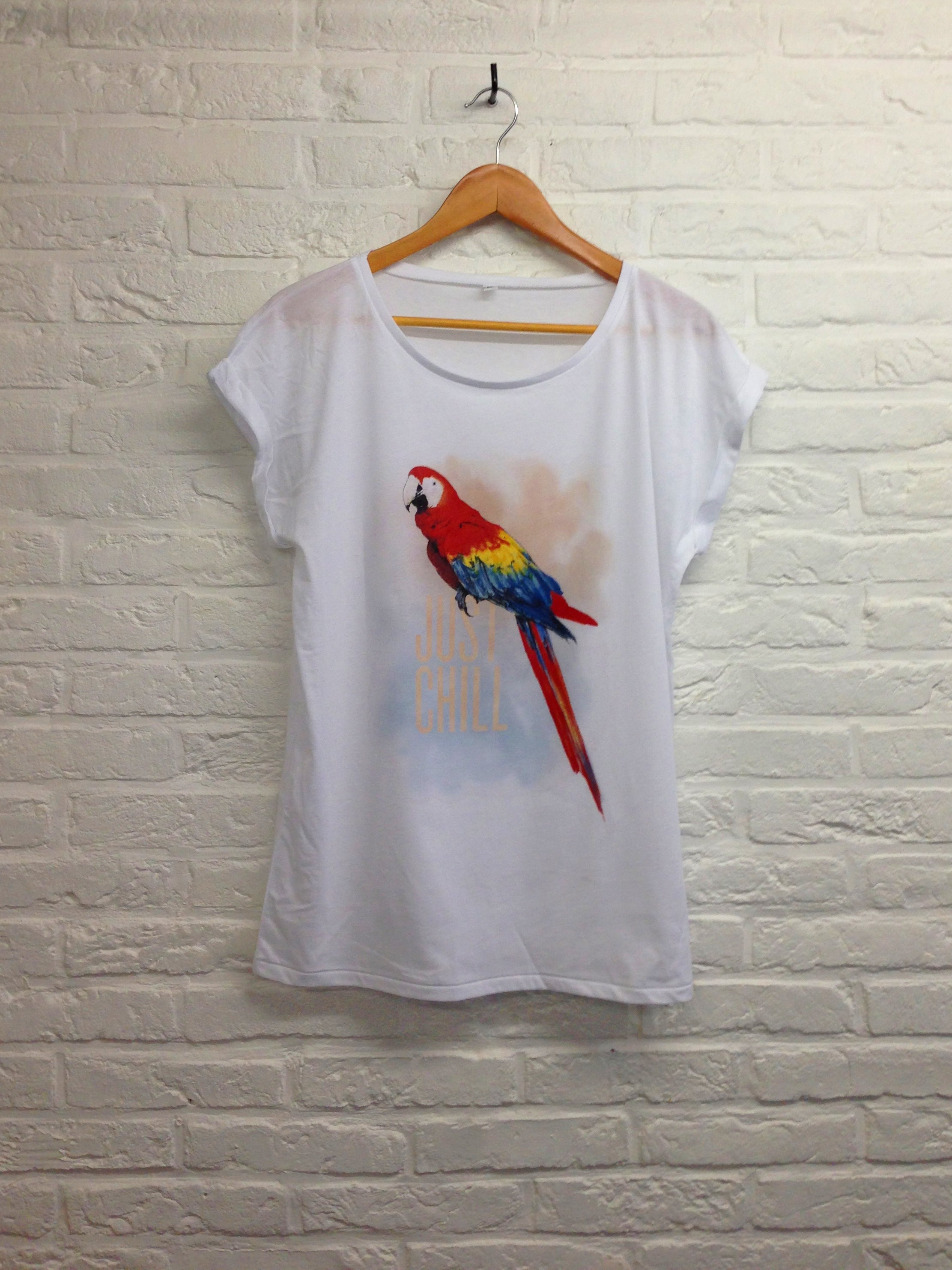 TH Gallery - Perroquet Just Chill - Femme-T shirt-Atelier Amelot