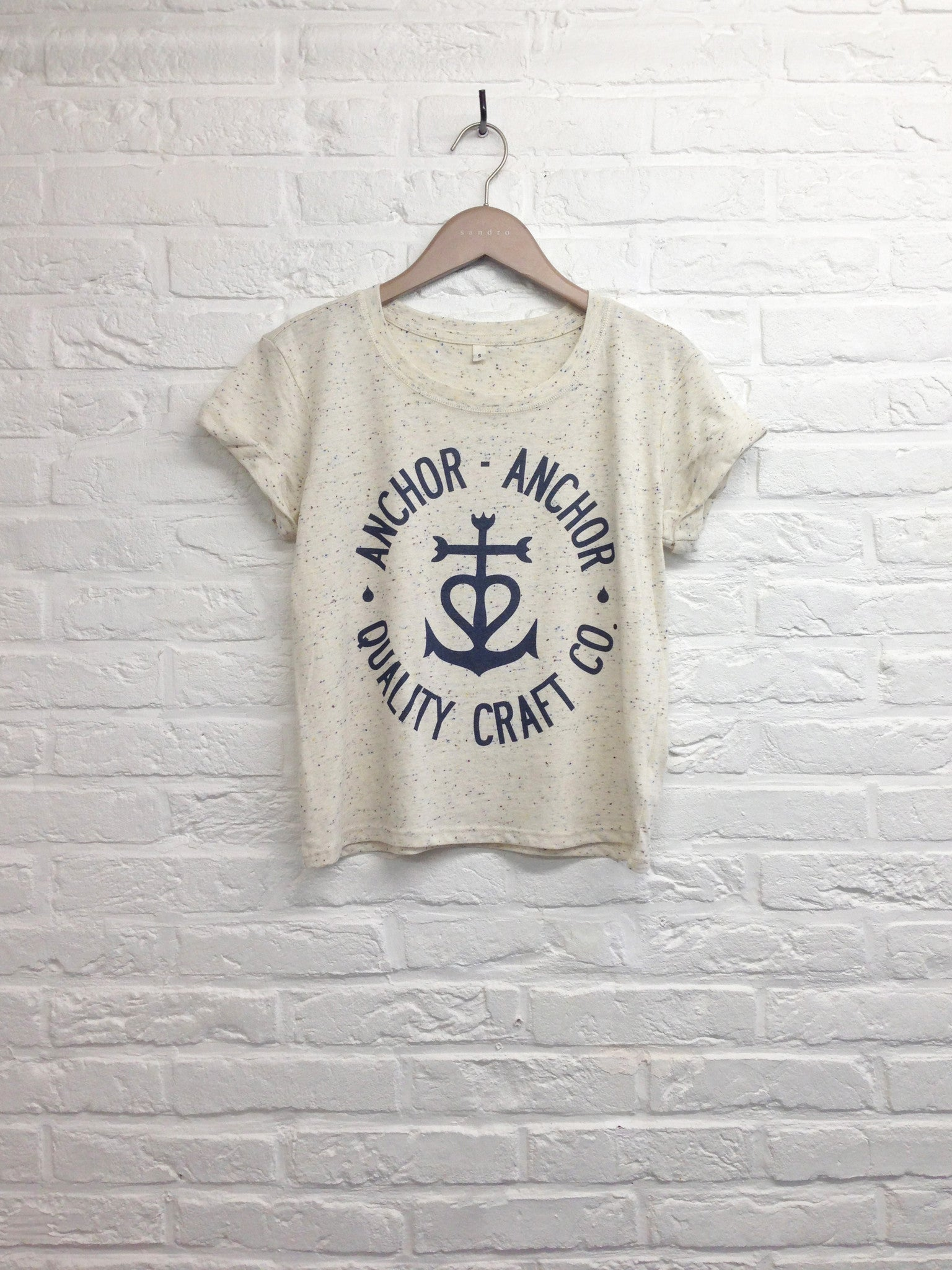 TH Gallery - Anchor Anchor - Crop top speckled Cream-T shirt-Atelier Amelot