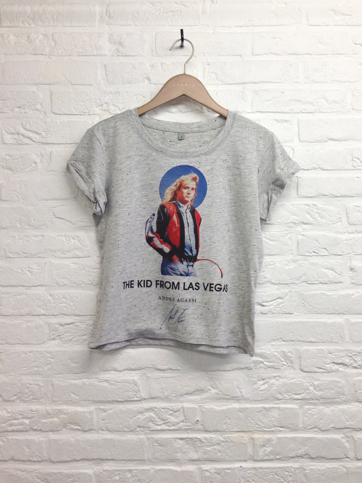 TH Gallery - Agassi Kid from Las Vegas- Lop top speckled-T shirt-Atelier Amelot