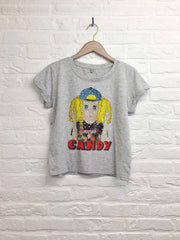 TH Gallery - Candy - Crop top speckled Grey-T shirt-Atelier Amelot