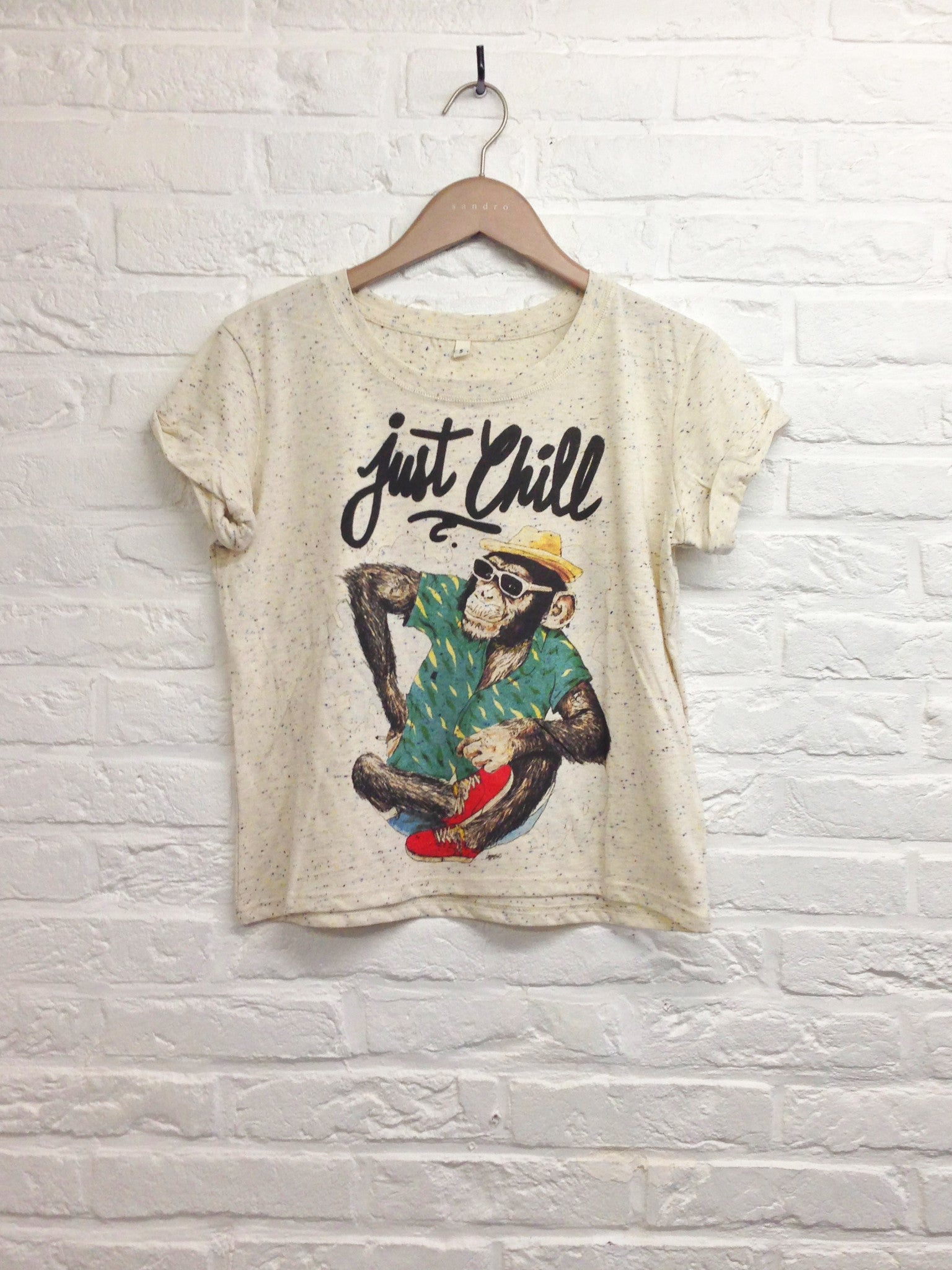 TH Gallery - Just chill Singe - Lop top speckled-T shirt-Atelier Amelot