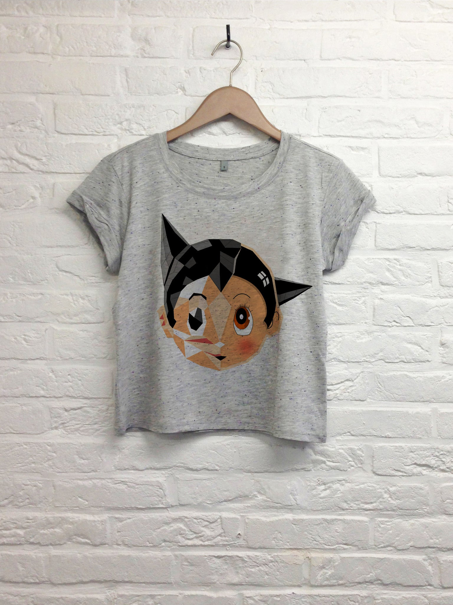 TH Gallery - Astro boy - Crop top speckled Grey-T shirt-Atelier Amelot