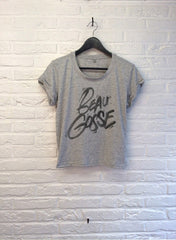 TH Gallery - Beau Gosse Classique - Crop Top speckled Grey-T shirt-Atelier Amelot