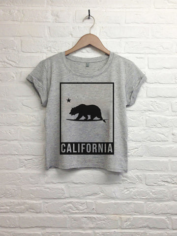 California bear cadre - Crop top speckled grey