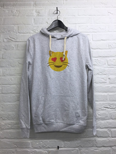 Chat coeur - Hoodie super soft touch