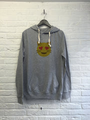 Chat coeur - Hoodie super soft touch-Sweat shirts-Atelier Amelot