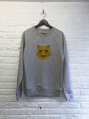 Chat coeur - Sweat Deluxe-Sweat shirts-Atelier Amelot