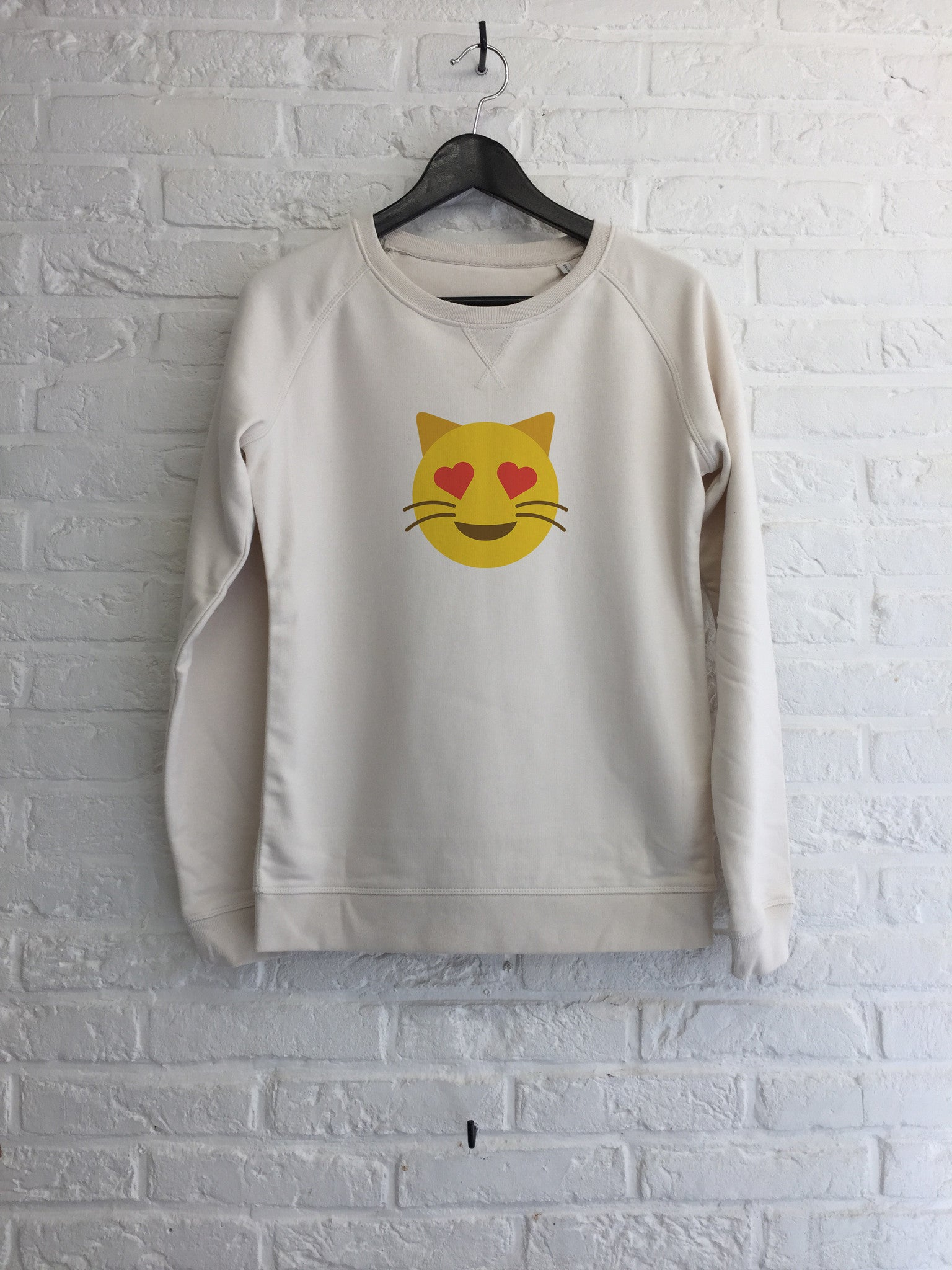 Chat coeur - Sweat - Femme-Sweat shirts-Atelier Amelot