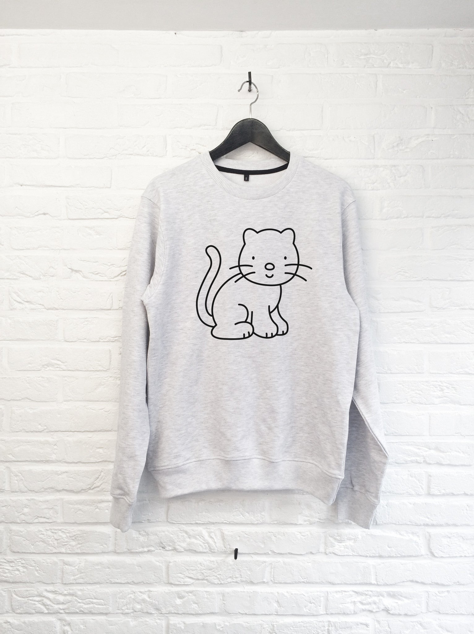 Chat à colorier - Sweat-Sweat shirts-Atelier Amelot