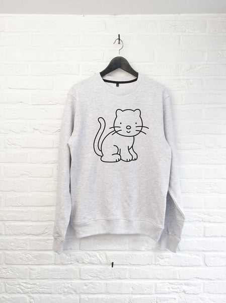 Chat à colorier - Sweat