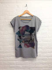 TH Gallery - Cocoon - Femme gris-T shirt-Atelier Amelot