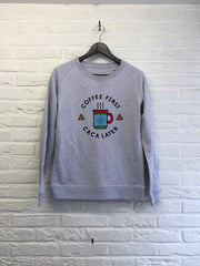 Coffee first Caca later - Sweat - Femme-Sweat shirts-Atelier Amelot