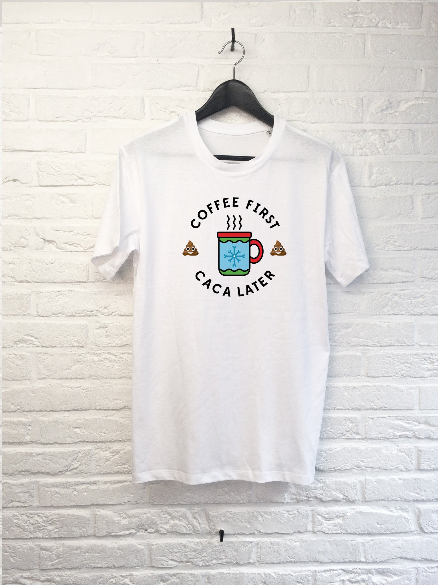 Coffee first Caca later-T shirt-Atelier Amelot