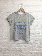 TH Gallery -Concorde Paris Opera - Crop top speckled gris-T shirt-Atelier Amelot