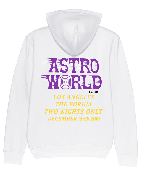 Hoodie Astroworld Tour Los Angeles forum Wish you were here White