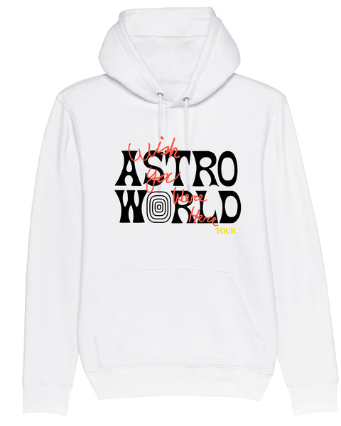 Hoodie Astroworld Tour Wish you were here White