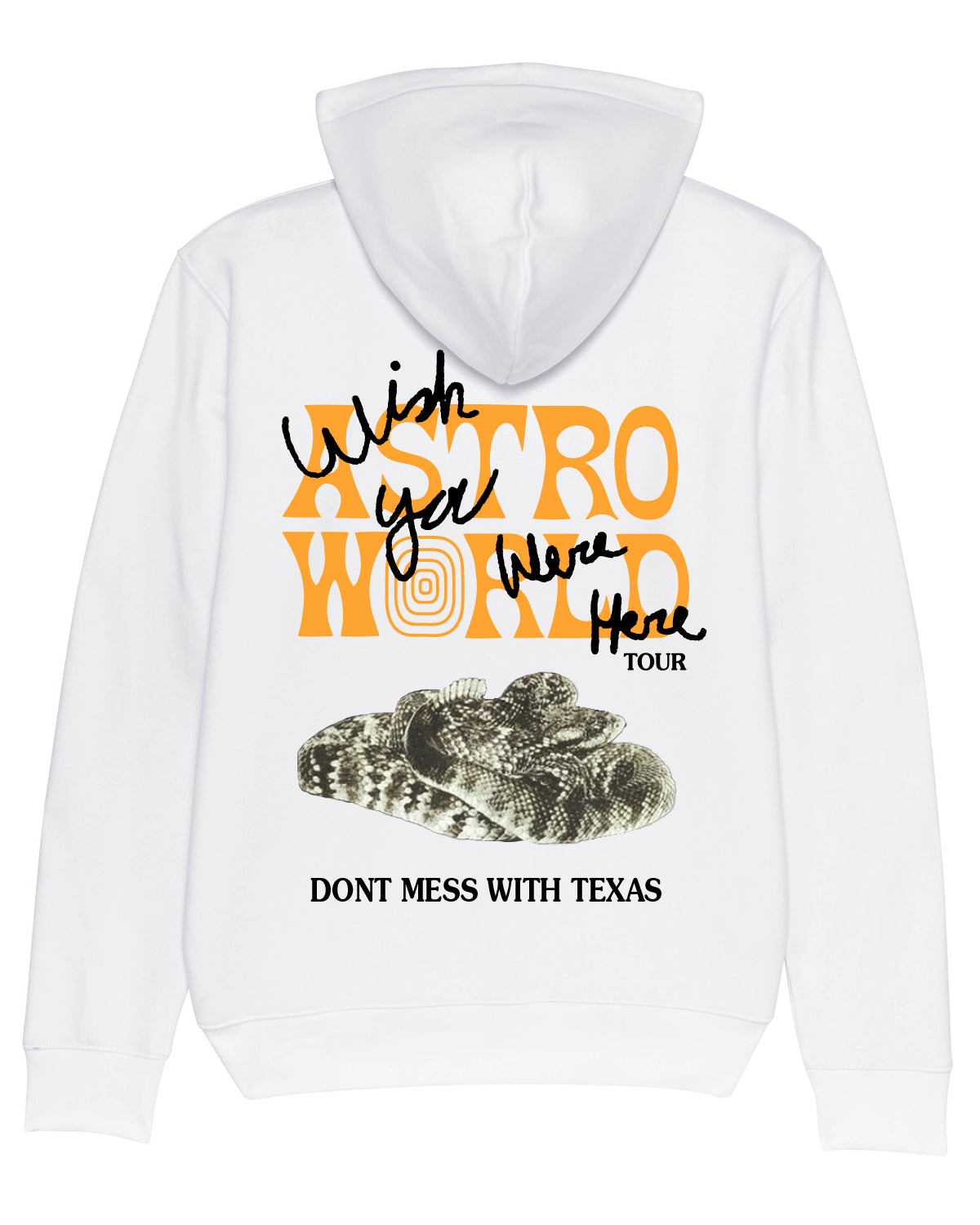 Hoodie Don't Mess With Texas Wish you were here White