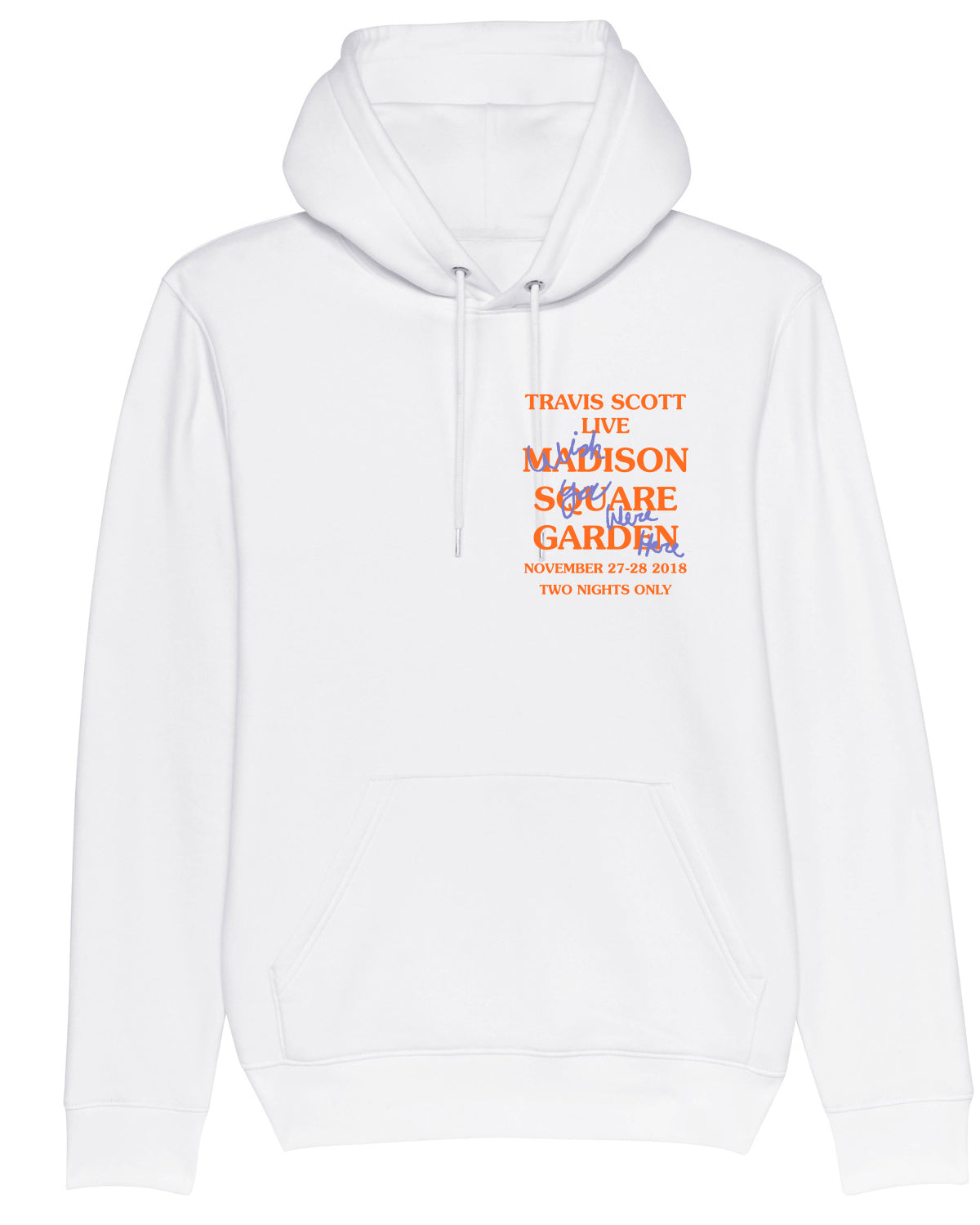 Hoodie Madison Square Garden Wish You Were Here Orange