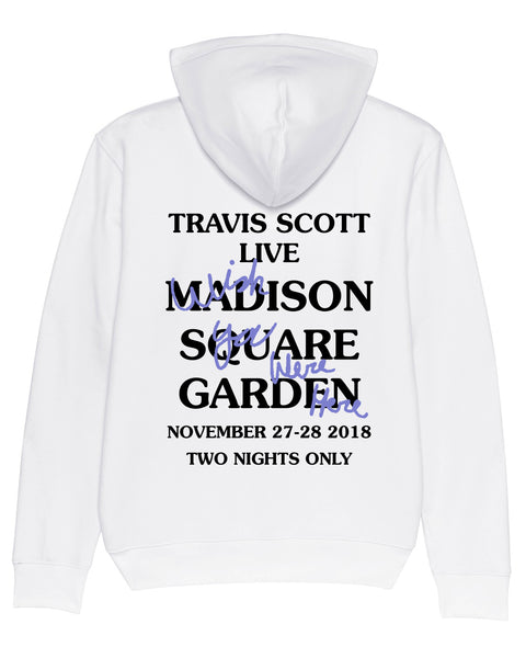 Hoodie Madison Square Garden White Wish you were here Purple