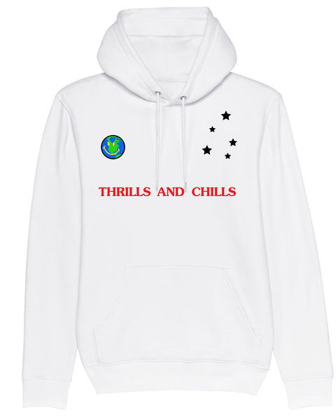 Hoodie Thrills and Chills Out of this world White