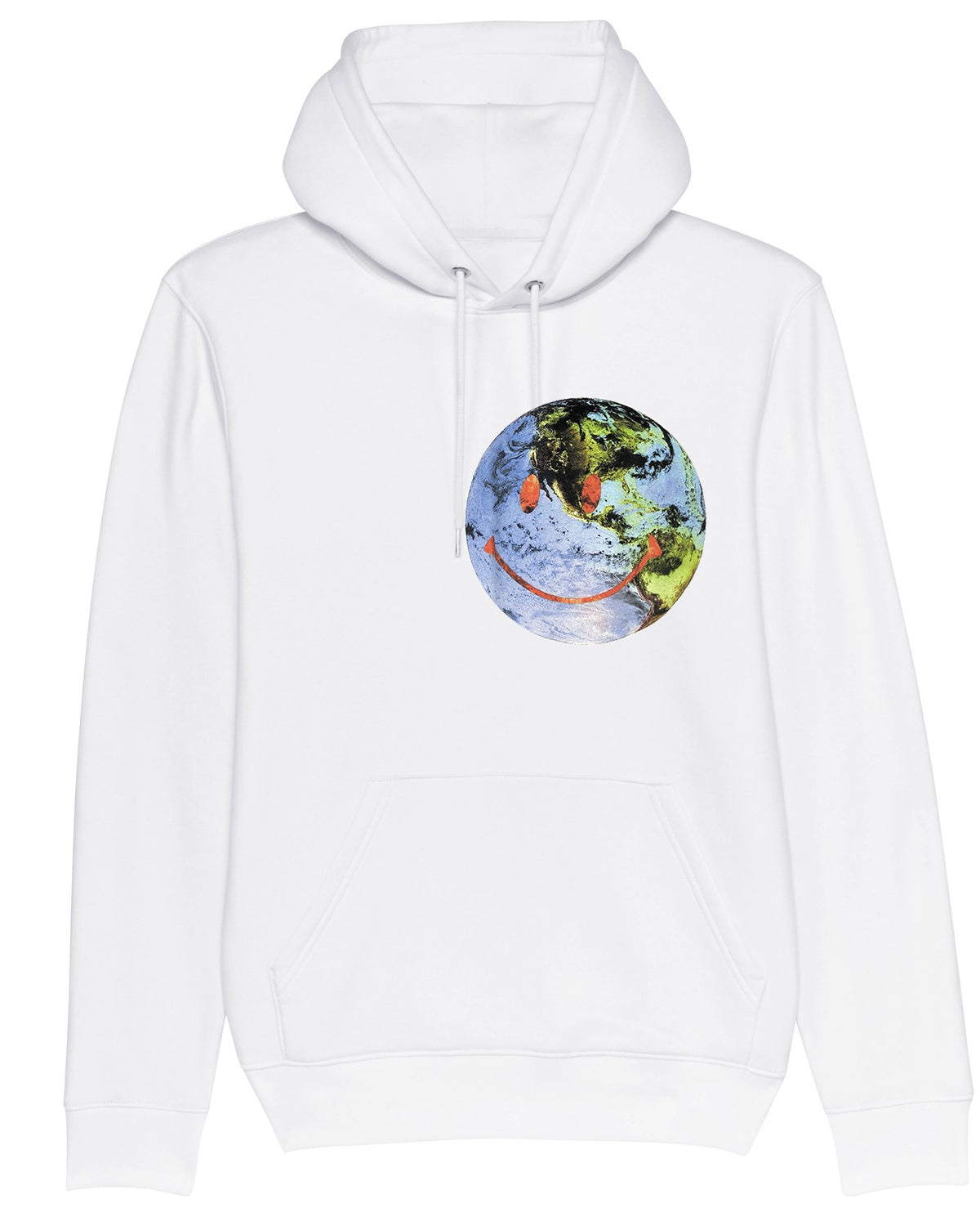 Hoodie Earth Face Wish you were here White