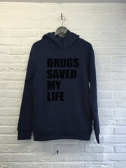 Drugs saved my life - Hoodie Deluxe-Sweat shirts-Atelier Amelot