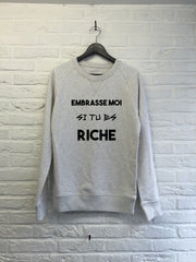 Embrasse moi si tu es riche - Sweat Deluxe-Sweat shirts-Atelier Amelot