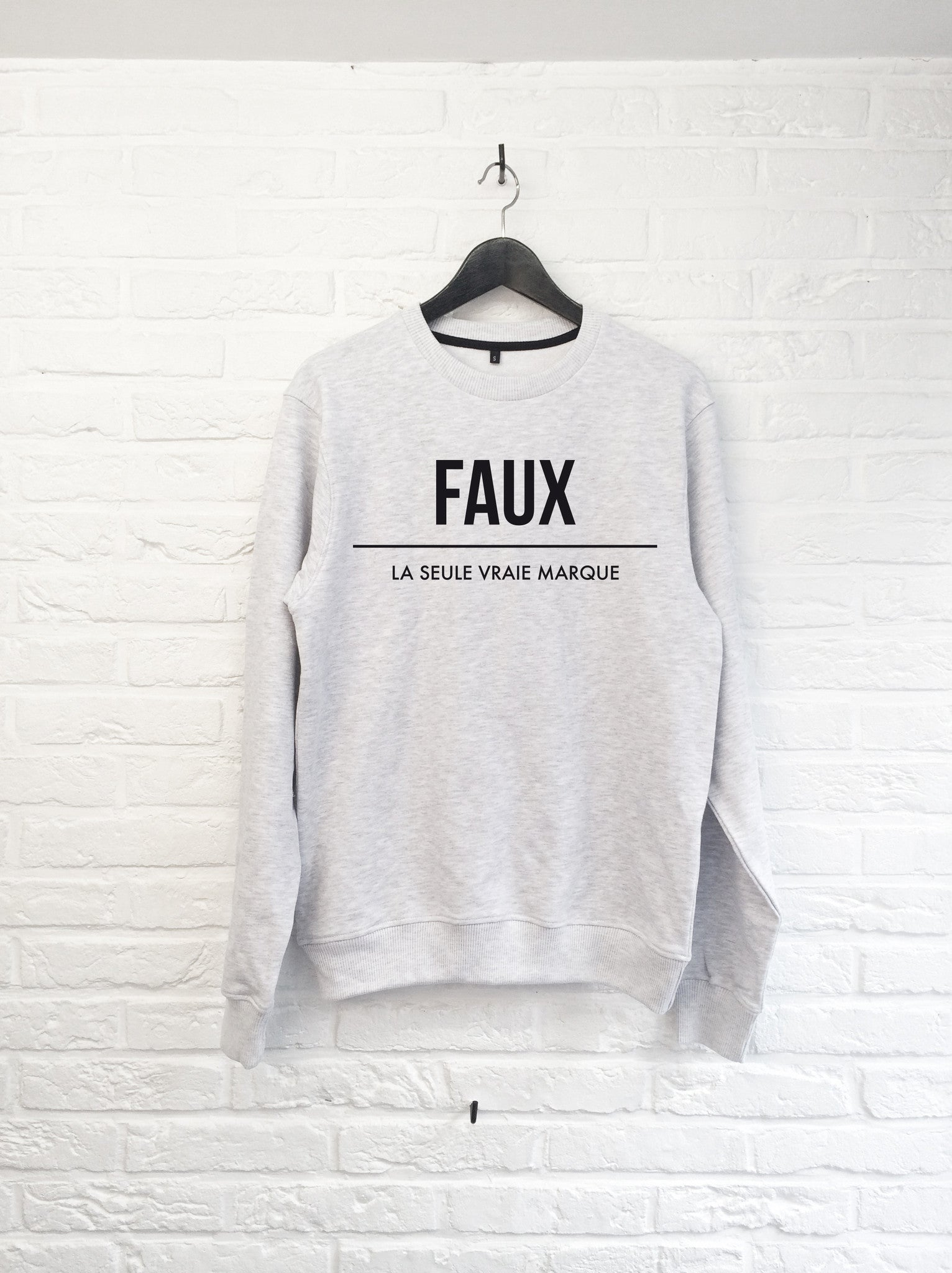 FAUX gris-Sweat shirts-Atelier Amelot