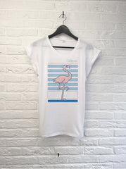 Flamant rose Californie - Femme-T shirt-Atelier Amelot