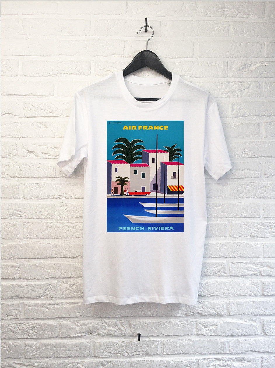 FAUX - Air France French Riviera-T shirt-Atelier Amelot
