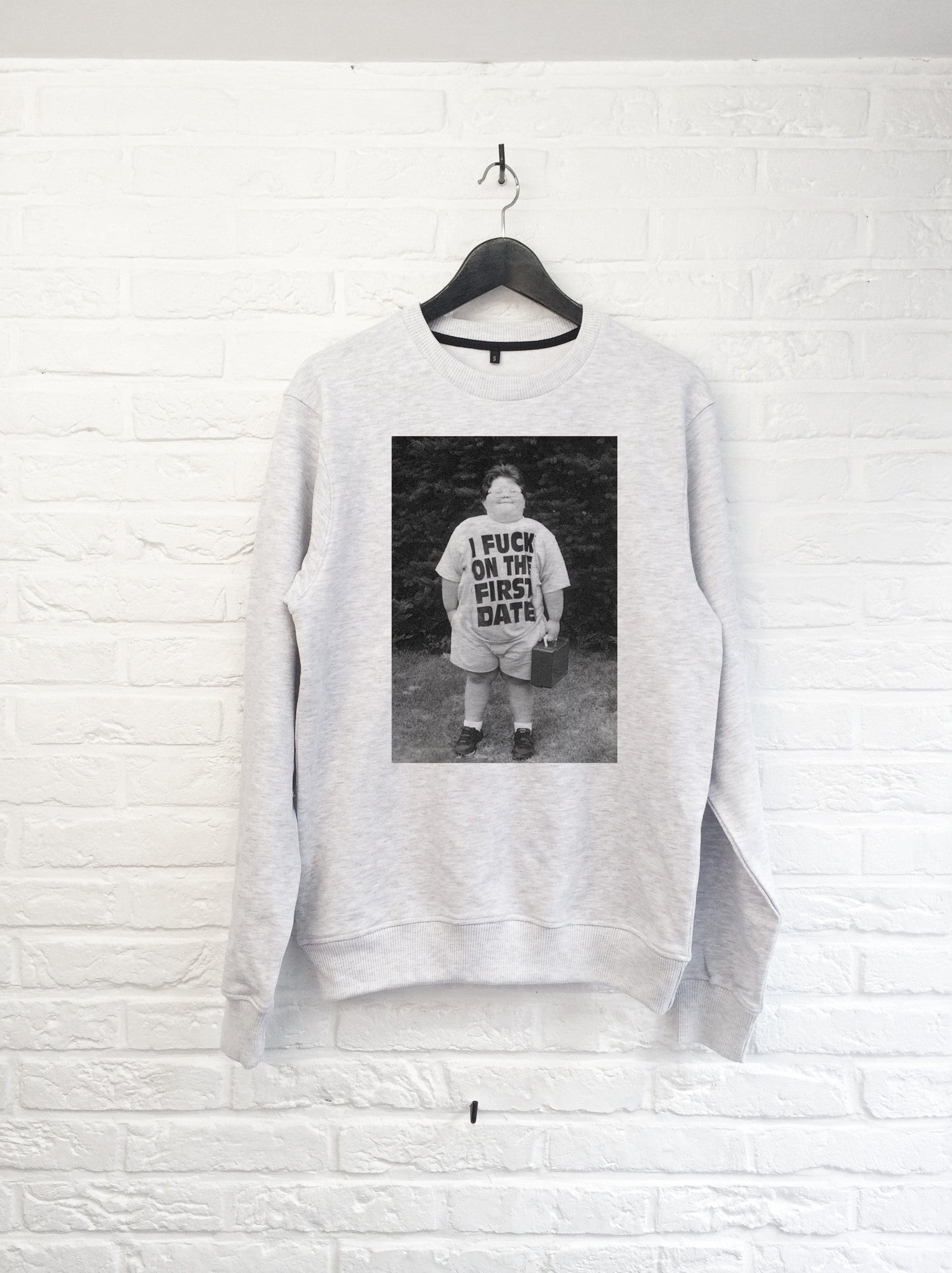 I F*** on the first date - Sweat-Sweat shirts-Atelier Amelot