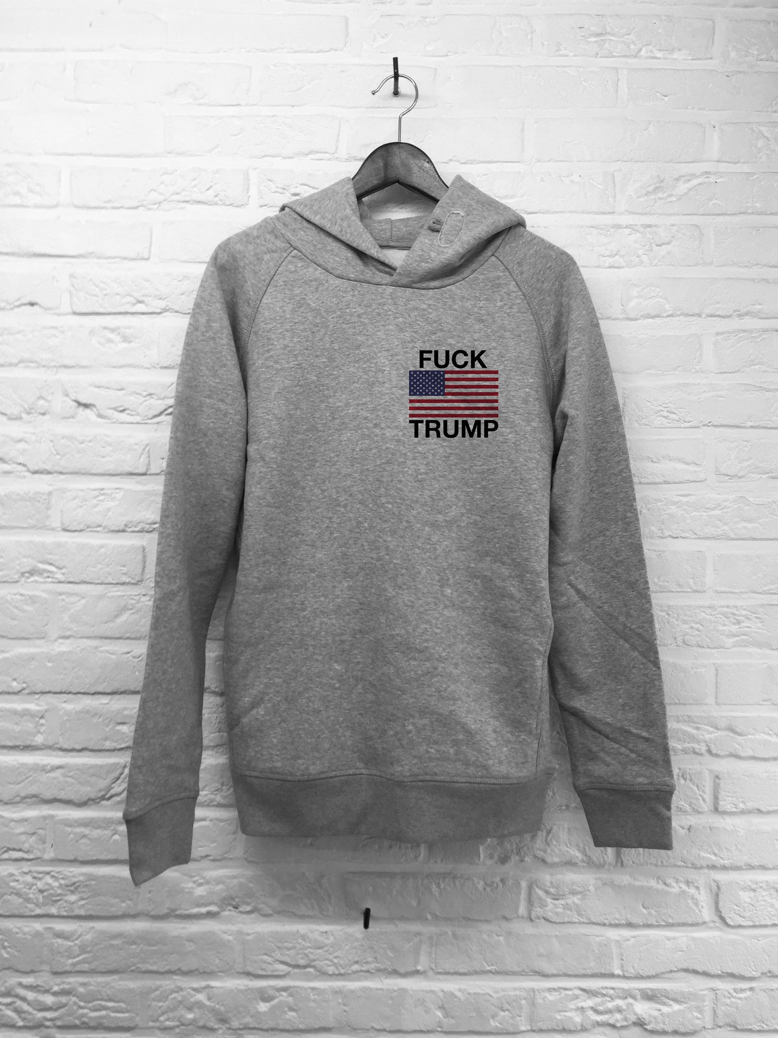 Donald Flag coeur - Hoodie Deluxe-Sweat shirts-Atelier Amelot