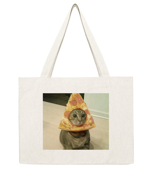 Chat Pizza - Shopping bag-Sacs-Atelier Amelot