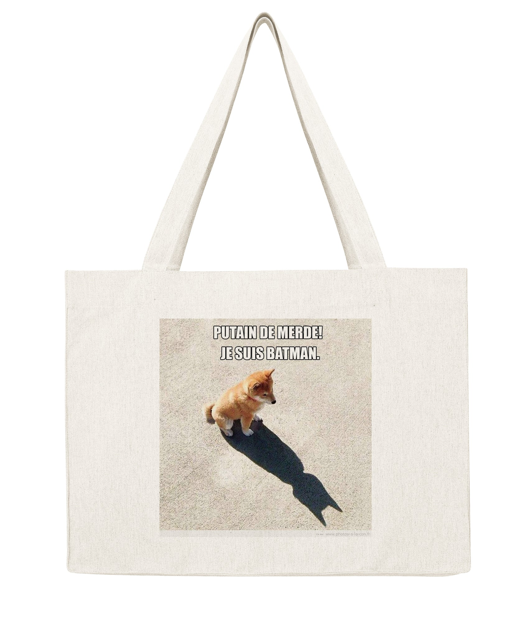 Chien Batman - Shopping bag-Sacs-Atelier Amelot