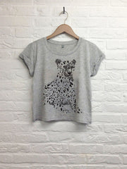 TH Gallery - Guépard- Crop top speckled Grey-T shirt-Atelier Amelot
