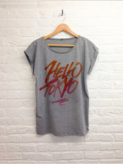 TH Gallery - Hello Tokyo - Femme gris-T shirt-Atelier Amelot