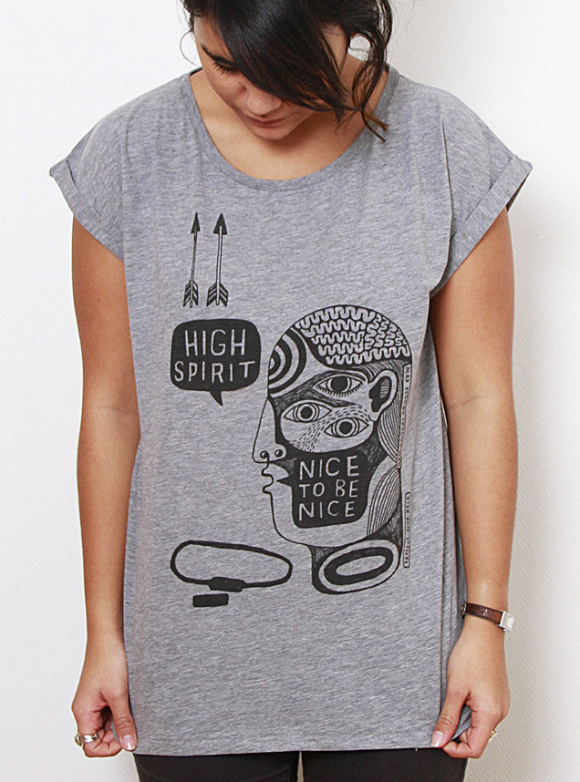 TH Gallery - High spirit - Femme Gris-T shirt-Atelier Amelot