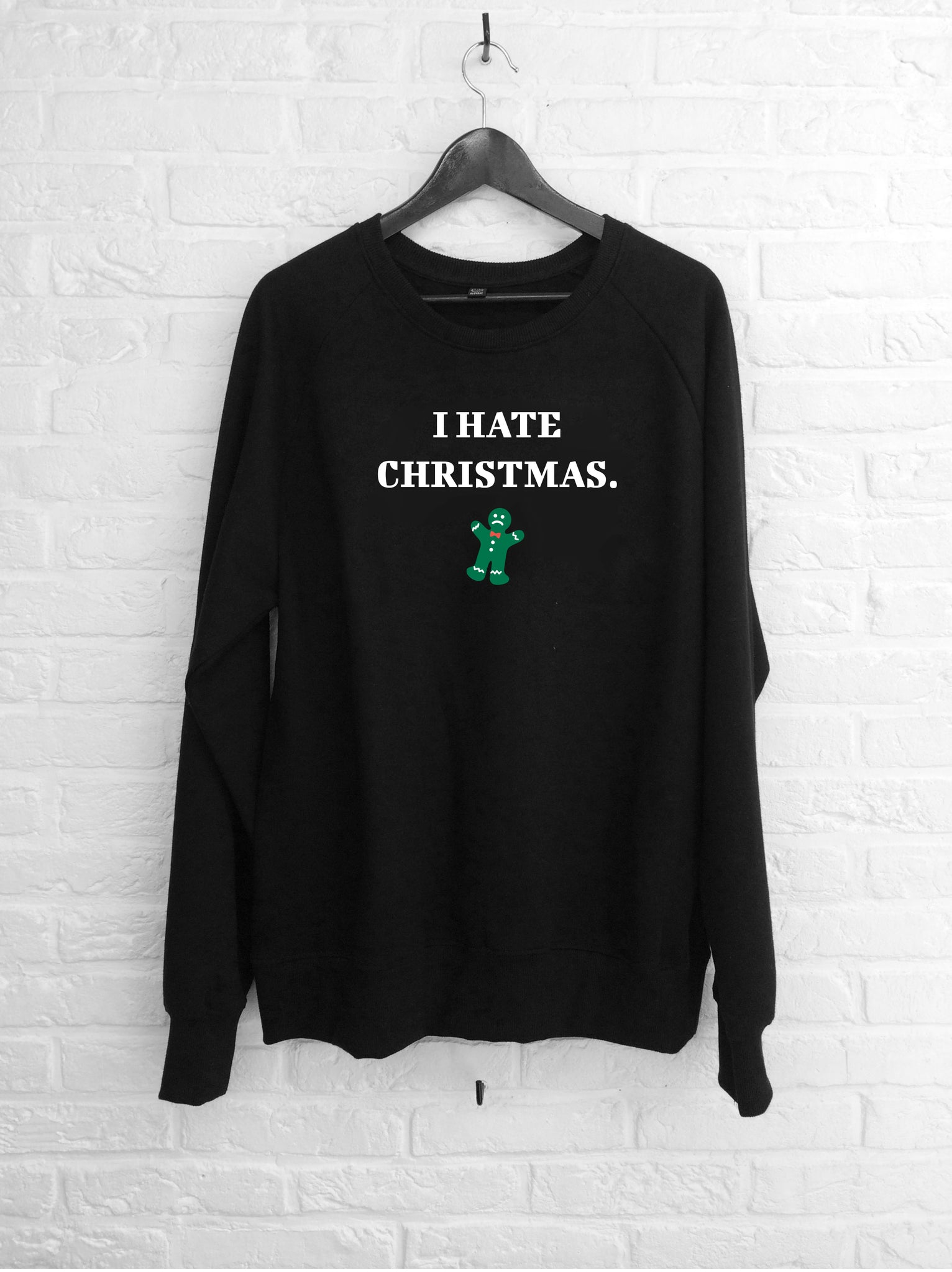 I hate christmas - Sweat Deluxe noir-Sweat shirts-Atelier Amelot