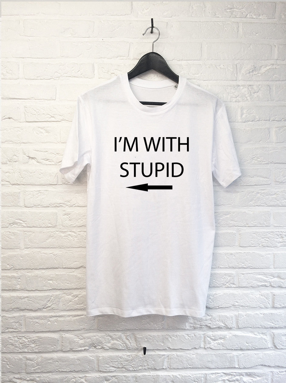 I'm with stupid-T shirt-Atelier Amelot