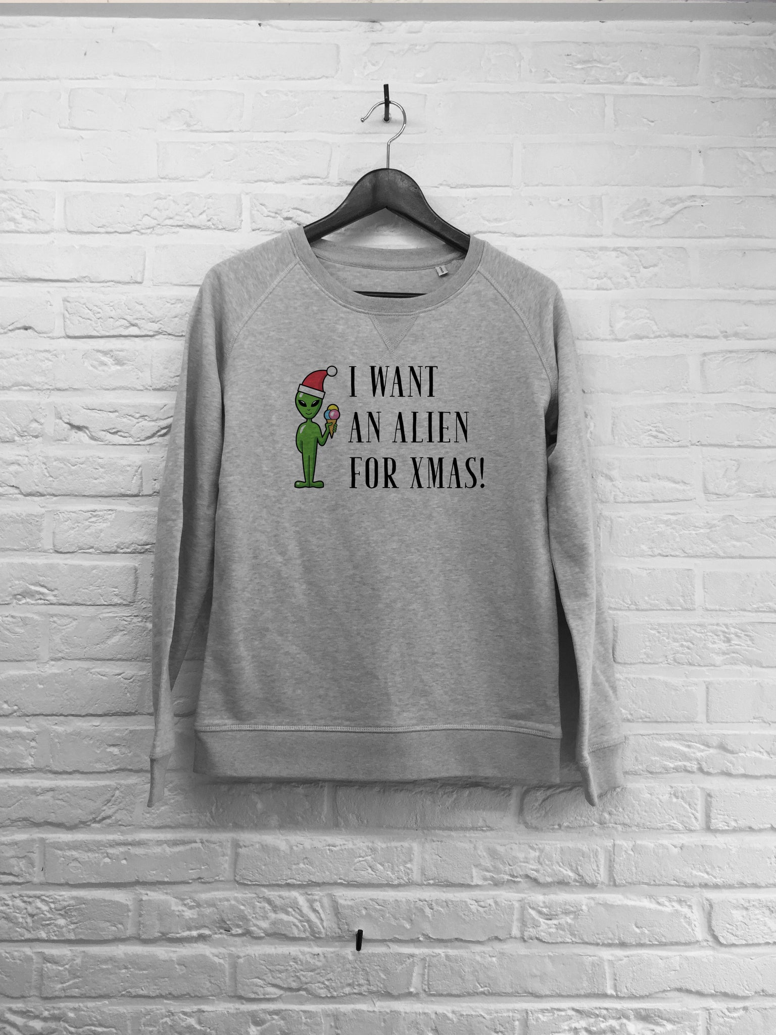 I want an alien for xmas - Sweat - Femme-Sweat shirts-Atelier Amelot