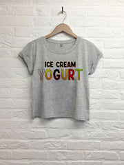 Ice cream yogurt  - Crop Top gris-T shirt-Atelier Amelot