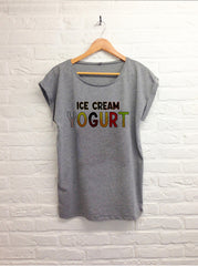 Ice cream yogurt - Femme gris-T shirt-Atelier Amelot