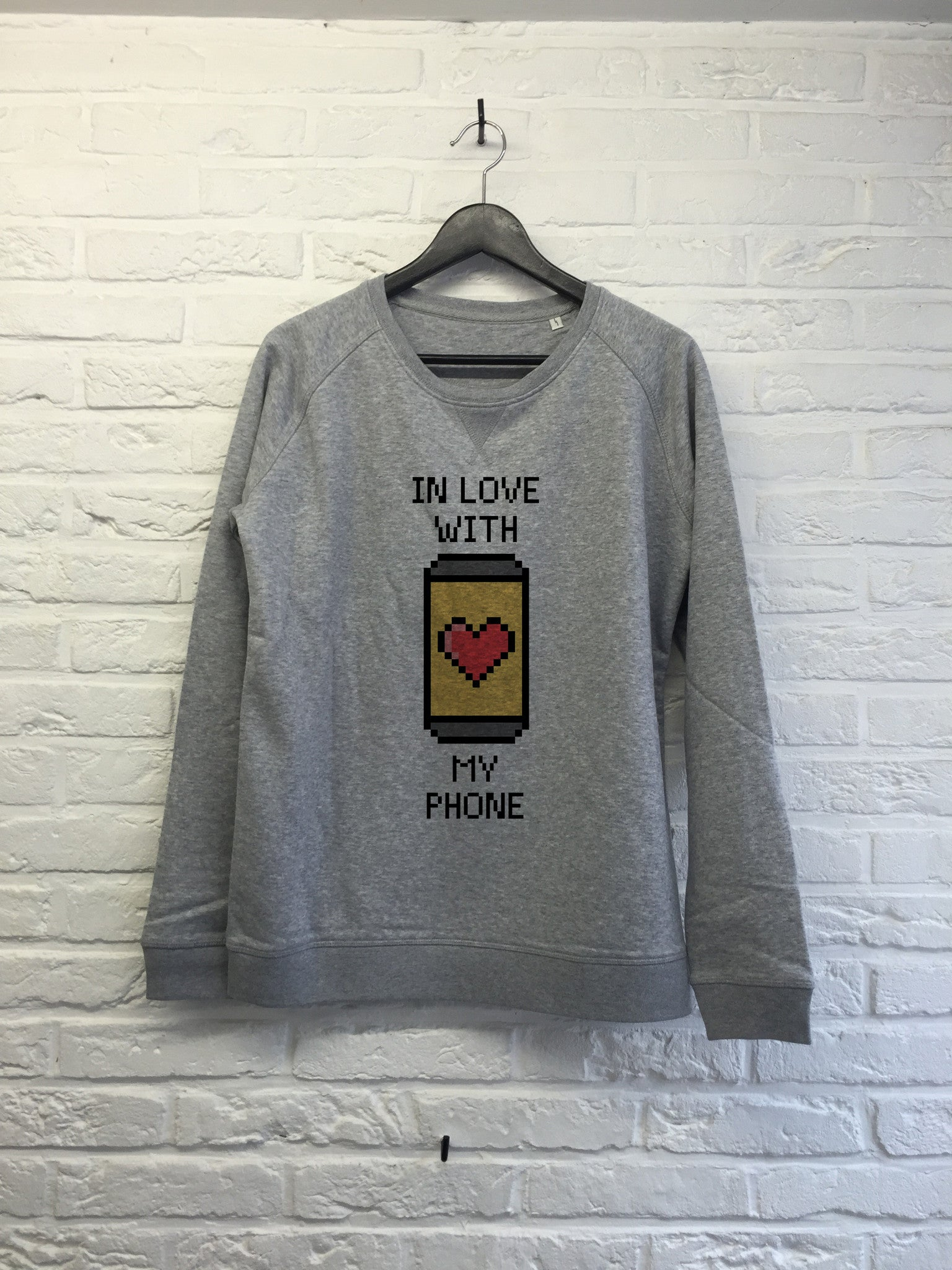In love with my phone - Sweat - Femme-Sweat shirts-Atelier Amelot