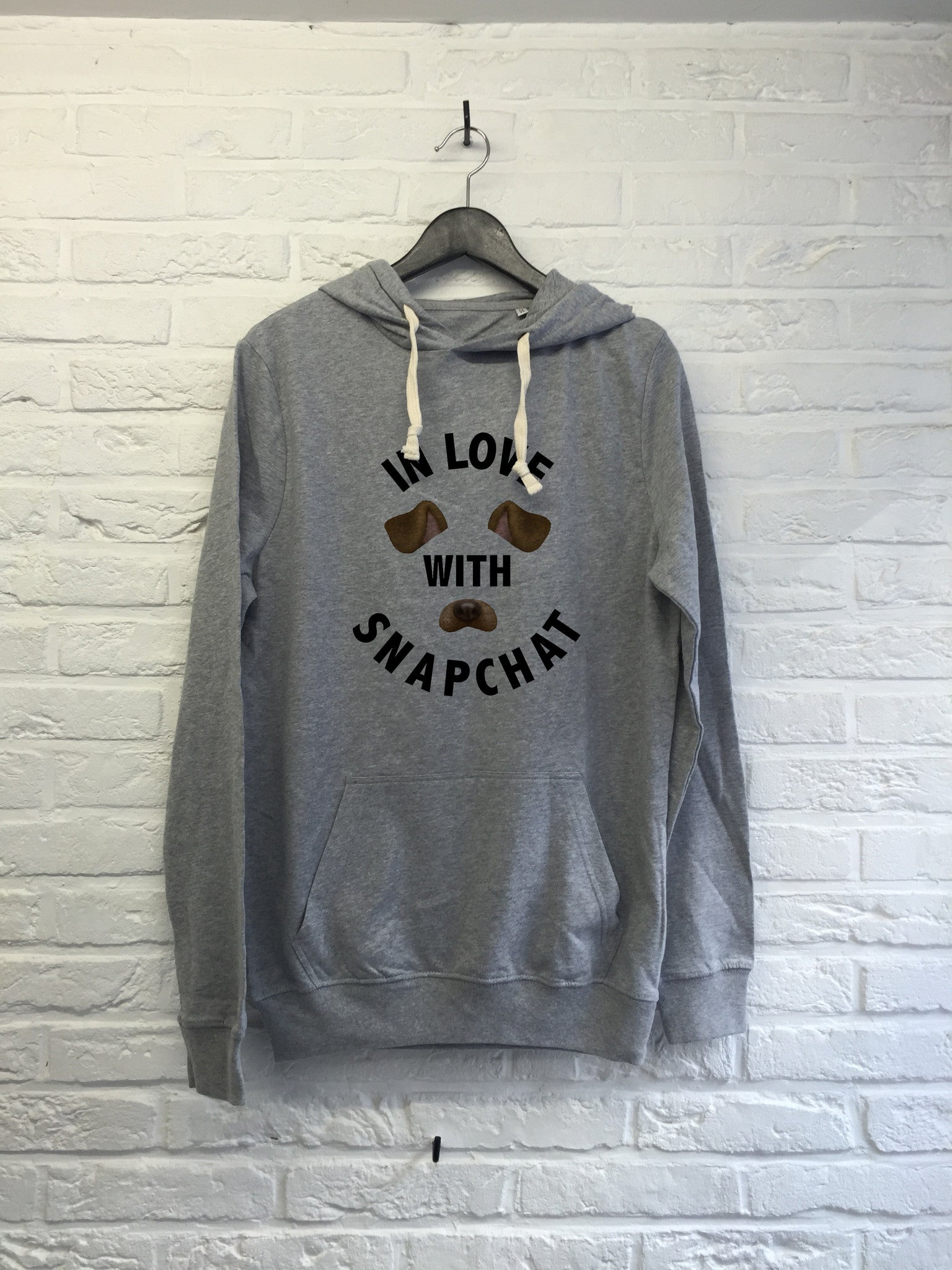 In love with Snapchat - Hoodie super soft touch-Sweat shirts-Atelier Amelot