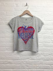 TH Gallery - J'adore Melrose - Crop top speckled gris-T shirt-Atelier Amelot