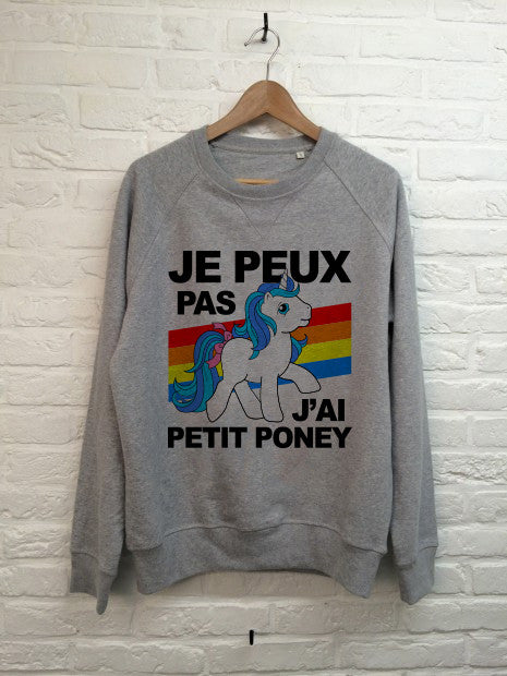 Je peux pas j'ai petit poney - Sweat - Femme-Sweat shirts-Atelier Amelot